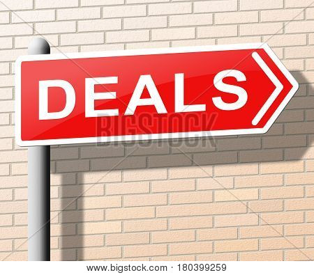Deals Means Best Price Goods 3D Illustration