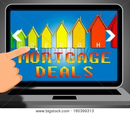 Mortgage Deals Representing Housing Discounts 3D Illustration