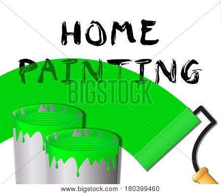 Home Painting Displays Home Painter 3D Illustration