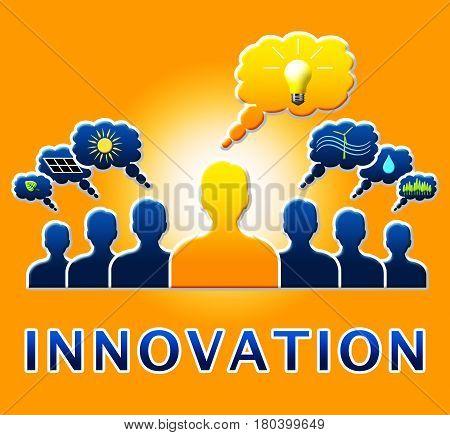 Innovation Lightbulb Showing Reorganization Transformation 3D Illustration
