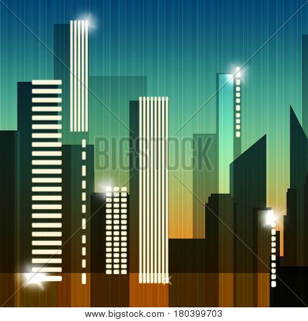 Skyscraper Buildings Shows Building Cityscape 3D Illustration