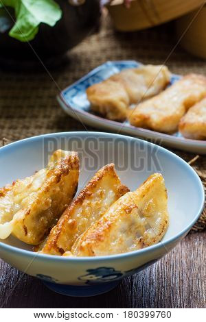 Gyoza Japanese Foods, Gyoza With Shrimp Meat And Vegetables