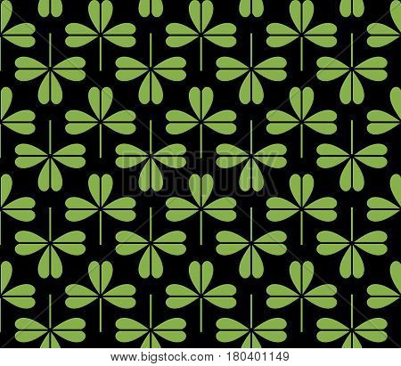 Greenery foliage seamless pattern background vector illustration. Spring color 2017, eco wrapping paper design