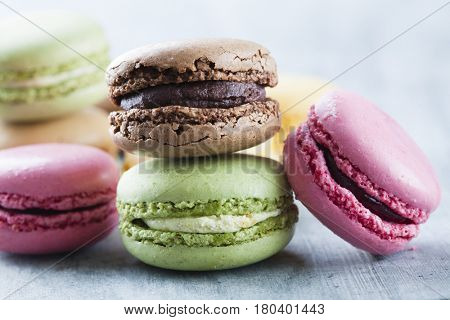 stacked high quality macaroons