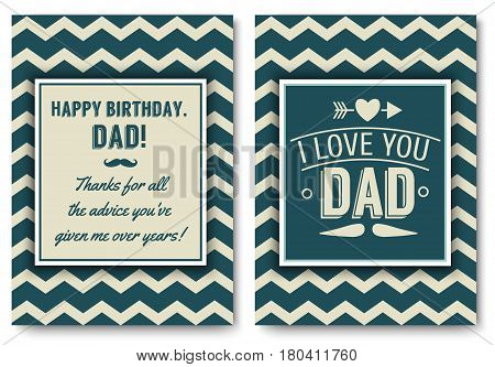 Dad Happy Birthday Vector Photo Free Trial Bigstock