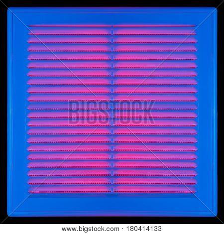 Blue Ventilation Grille