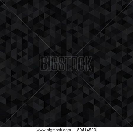 Deep dark triangles, abstract luxury seamless pattern