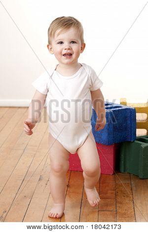 Toddler Boy Walking