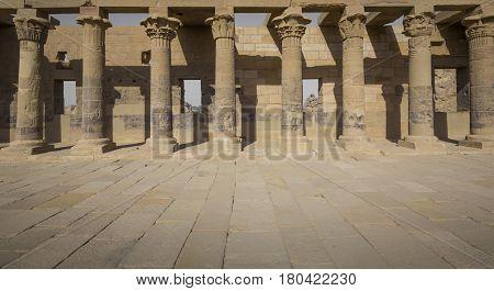 The Philae Temple On Agilkia Island In Lake Nasser Near Aswan, Egypt
