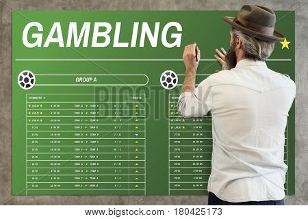 Gambling Football Game Bet Concept poster