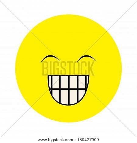 colorful emoticon face happines expression vector illustration