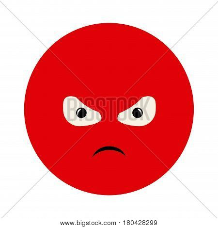 colorful emoticon furious face expression vector illustration