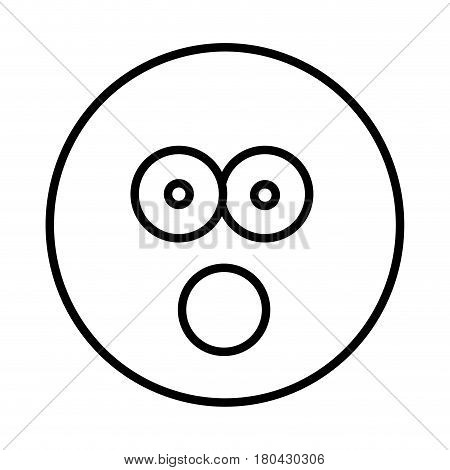 silhouette emoticon face puzzled expression vector illustration