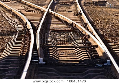 The rails on the railway is a road for trains.