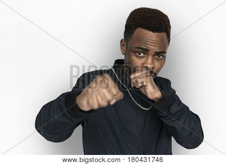 African descent Fighting stance