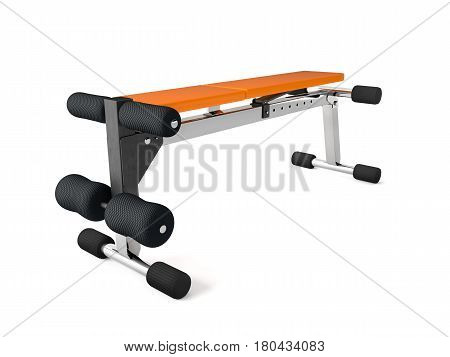 3d rendering of a multifunctional bench for abdominal and lifting