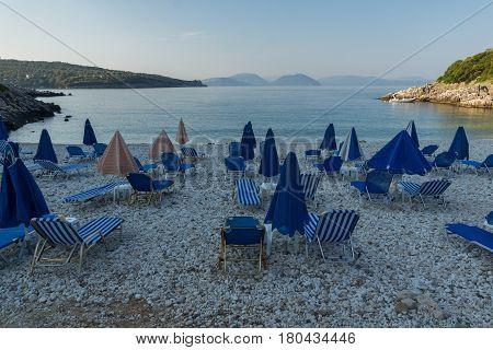 Amazing morning view of Kastri Beach, Lefkada, Ionian Islands, Greece
