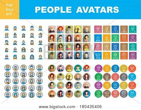 Man`s And Women`s Characters Staff Pictogram.