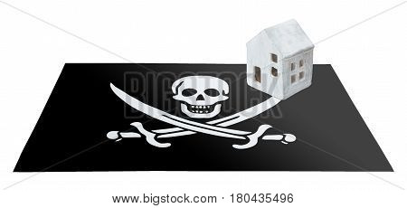 Small House On Flag - Pirate Flag