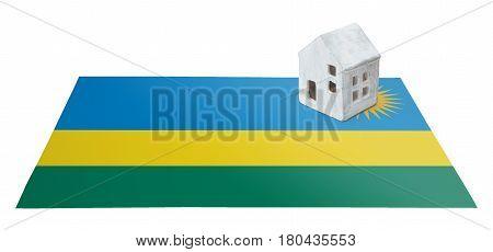 Small House On A Flag - Rwanda