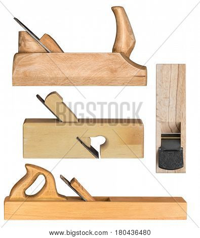 Wooden hand planes for woodworking and carpentry.