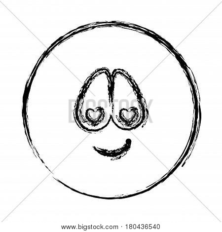 blurred silhouette emoticon charmed face expression vector illustration