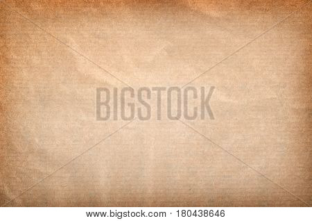 An old peice of rectangular brown paper