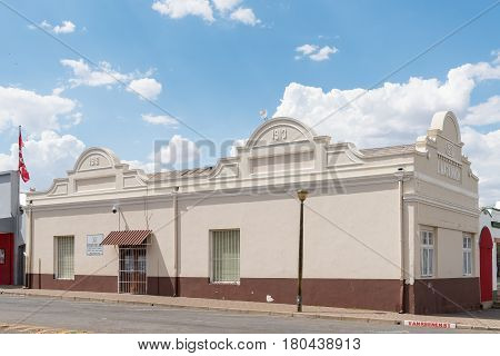 MIDDELBURG SOUTH AFRICA - MARCH 21 2017: The historic old public library in Middelburg a town in the Eastern Cape Province