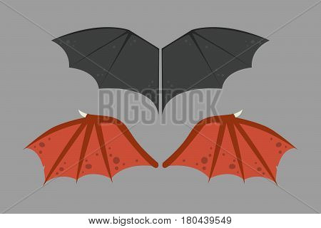 Wings isolated bat black animalwildlife fly halloween mammal vampire flight and natural hawk life peace design element eagle winged side shape vector illustration. Beauty haven soft anatomy graphic.