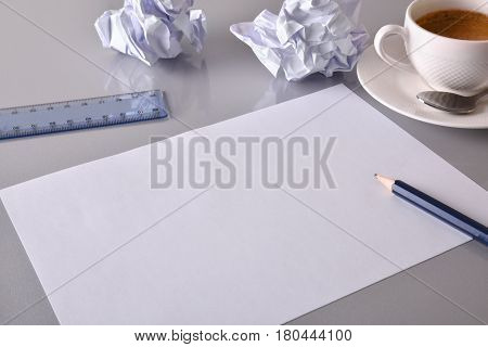 Office Desktop Concept Search For Ideas In Business Elevated View