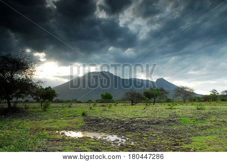 Mount Baluran (1,247 m) in Baluran national park, East Java, Indonesia