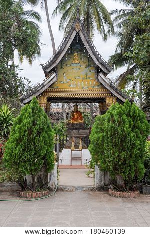 Luang Prabang, Laos - 21 January 2012: Wat Xieng Thong temple in Luang Prabang on Laos