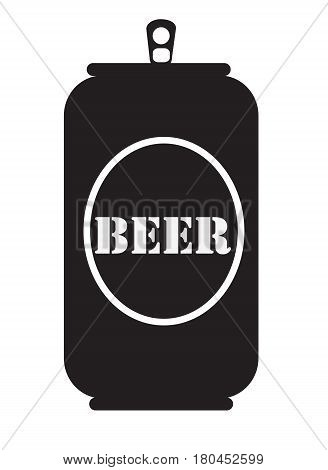 beer can icon on white background. beer can icon.