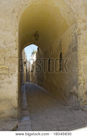 Archway in the ancient city of Medina,