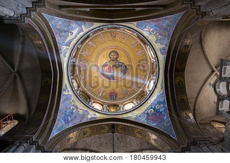 The Dome Of Church Of The Holy Sepulchre. Jerusalem. Israel