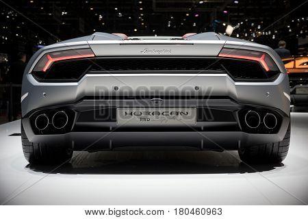 Lamborghini Huracan Rwd Spyder Sportscar
