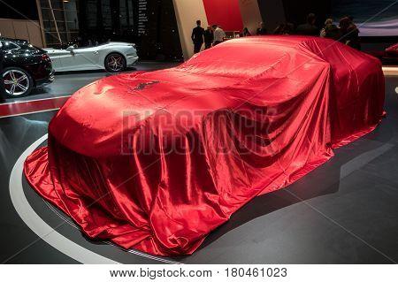 Ferrari 812 Superfast Sports Car Veiled