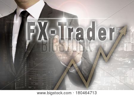 Fx Trader Is Shown By Businessman Concept