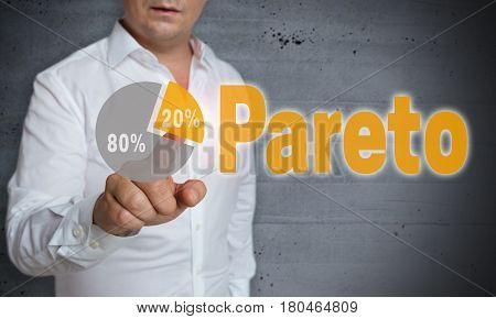 Pareto touchscreen is operated by man picture
