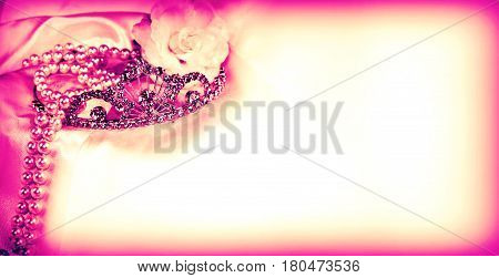 Passion red horizontal long empty wedding bridal card background