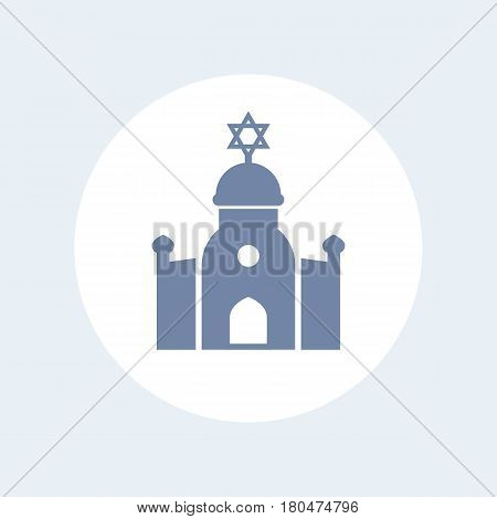 synagogue icon isolated on white, eps 10 file, easy to edit