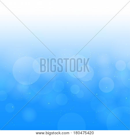 Nature blue sky or water circle bokeh. Clouds sunlight background