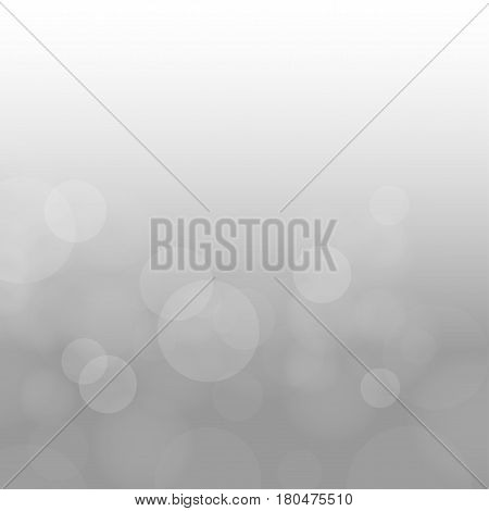 Nature gray clouds circles bokeh. Abstract sky background