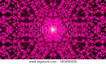 Kaleidoscope abstract background. Digital background. 3d rendering