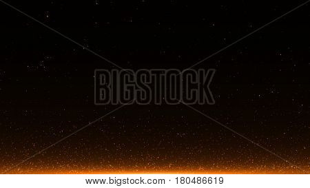 abstract background with Rising embers. 3d rendering