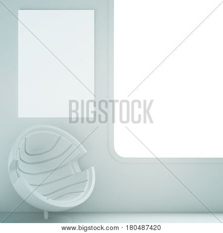 Interior With White Armchair