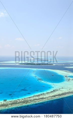 Blue Infinity (atolls of Maldives, The Indian Ocean)