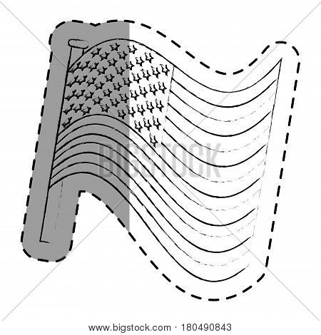 united states of america flag vector illustration design