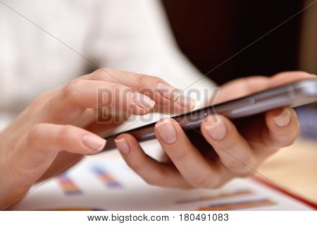 Hand Using Mobile Phone