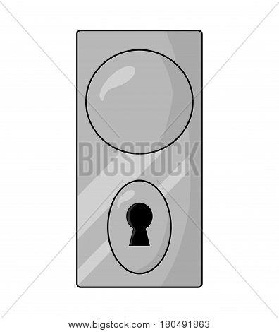 Dooe Knob, Handle Vector Symbol Icon Design.